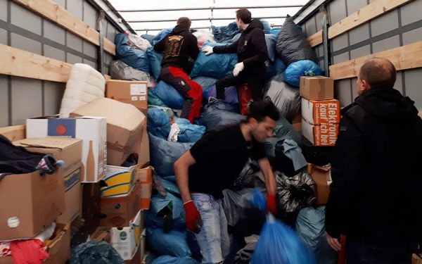 All together loading donations