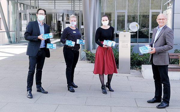 Mask donation in Rüdersdorf